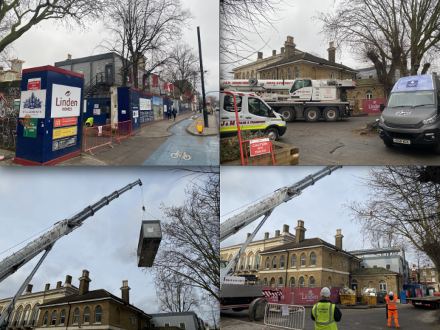 Removal of a 80ft x 40ft Two Storey Modular Building split over two Sunday at the Linden Homes Site