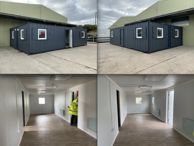 Two linked fully refurbished 32ft x 10ft Anti-vandal offices