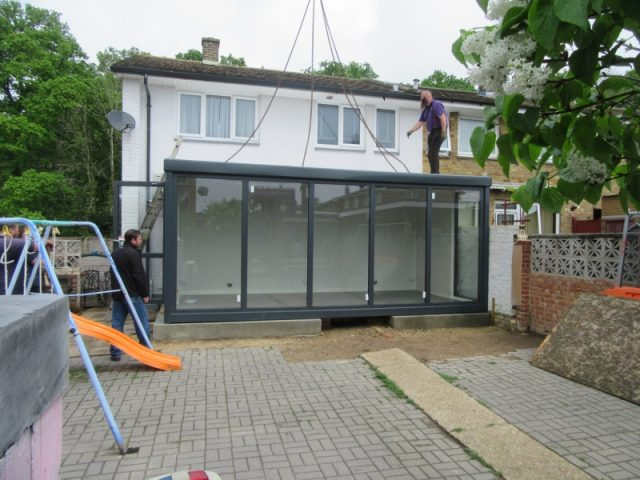 20ft x 10ft SALES OFFICE USED AS INSTANT HOUSE EXTENSION IN HAVANT