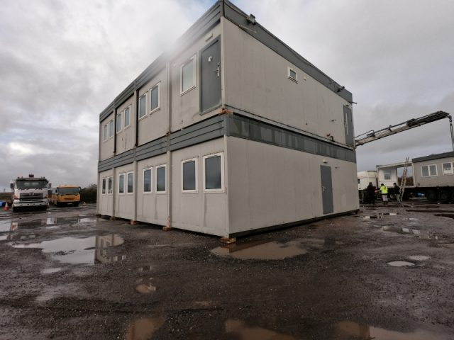 32ft x 40ft 8 BAYS MODULAR BUILDING TWO STOREY 4 ON 4 PORTABLE BUILDING