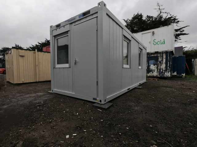 20ft x 8ft SITE OFFICE PORTABLE BUILDING SITE CABIN MODULAR OFFICE