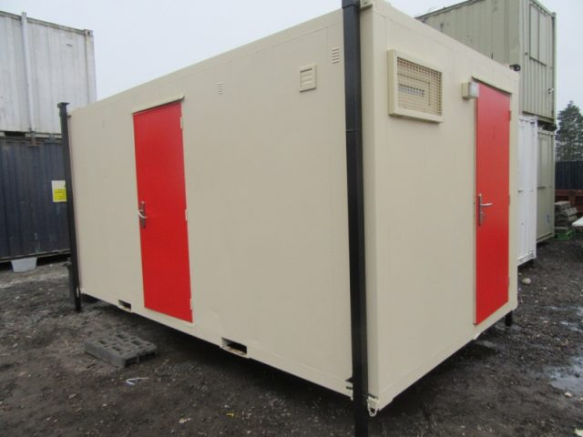 16ft x 9ft ANTIVANDAL SITE TOILET BLOCK, 2+1 SO 2 MALE AND 1 FEMALE / DISABLED