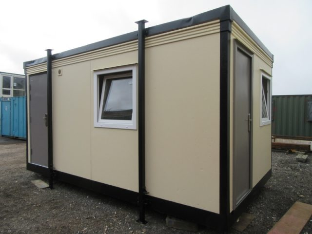 16ft x 9ft SITE OFFICE, PORTABLE OFFICE WITH SEPARATE TOILET