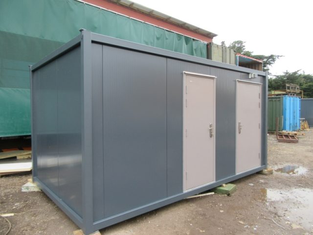 16ft x 10ft NEW 1+1+1 PORTABLE TOILET / SHOWER BLOCK, DISABLED ACCESS TOILET