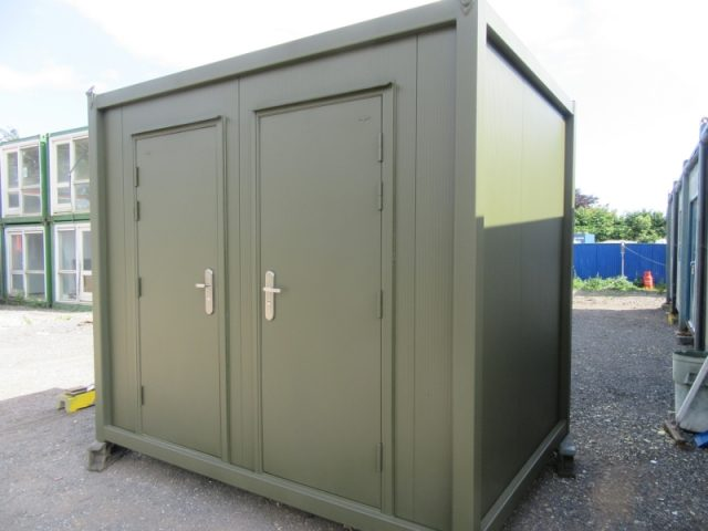 10ft x 7ft PORTABLE TOILET / SHOWER BLOCK, BRAND NEW, 1+1 TOILET / SHOWER