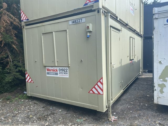24ft x 10ft SITE CABIN SITE OFFICE OPEN PLAN PORTABLE BUILDING RARE