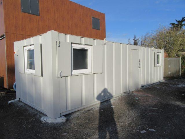 32ft x 10ft ANTIVANDAL SITE OFFICE, PORTABLE BUILDING, UPVC WINDOWS