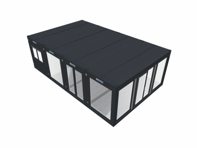 20ft x 32ft BRAND NEW 4 BAY MODULAR BUILDING SALES OFFICE SITE OFFICE MARKETING