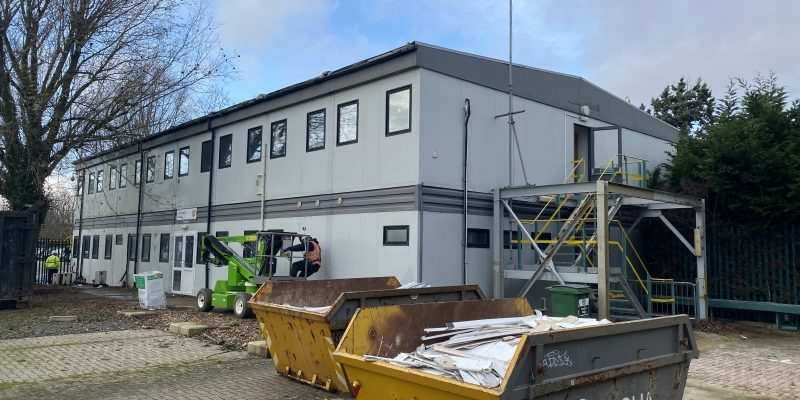 40ft x 80ft 16 BAYS MODULAR BUILDING TWO STOREY 8 ON 8 PORTABLE BUILDING