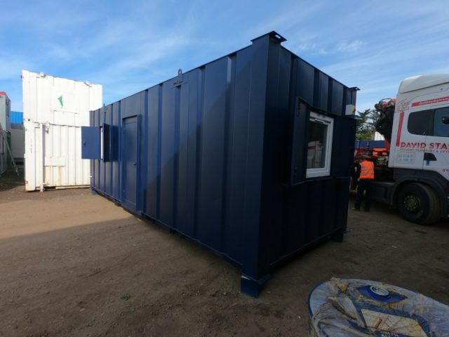 24ft x 9ft ANIT VANDAL SITE CANTEEN, PARTITIONED WITH SEPARATE OFFICE