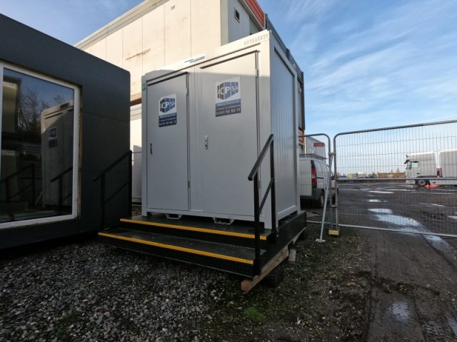 8ft x 5ft NEW BUILD 1+1 TOILET SHOWER BLOCK / MALE AND FEMALE WITH A WASTE TANK