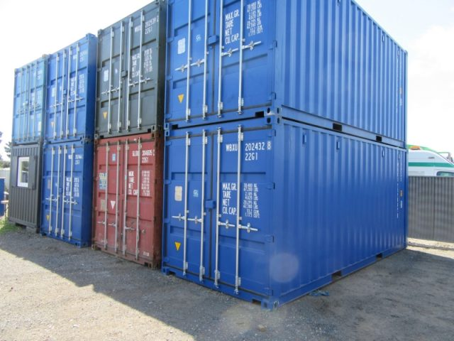 20ft x 8ft NEW SHIPPING CONTAINER, STORAGE CONTAINER, STEEL CONTAINER, CHOICE OF BLUE OR GREEN