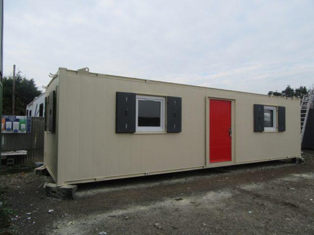32ft x 10ft ANTIVANDAL SITE OFFICE, PORTABLE BUILDING, OPEN PLAN, CHOICE, VGC,