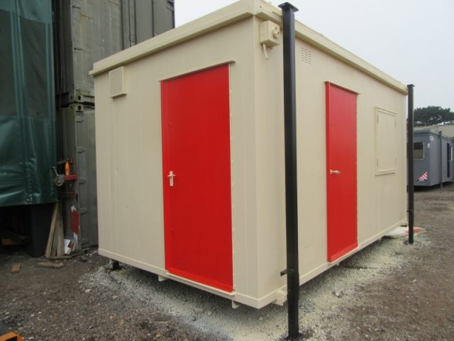 16ft x 9ft ANTIVANDAL SITE OFFICE, PORTABLE OFFICE WITH SEPARATE TOILET