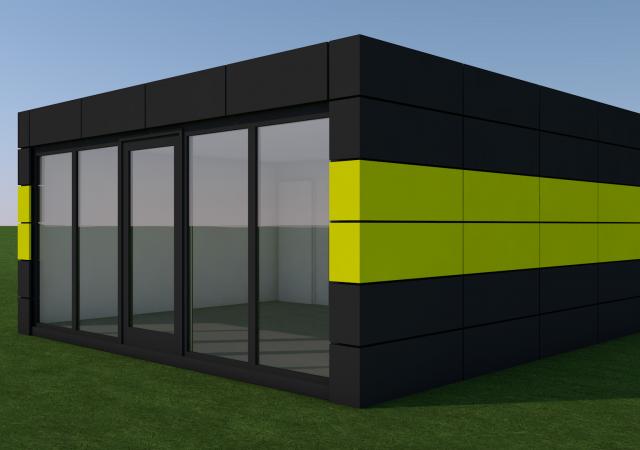20ft x 20ft NEW BUILD 2 BAY MODULAR BUILDING SALES OFFICE SHOP HOSPITALITY UNIT